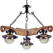 Люстра Blitz 2605-43 Country House 3*40W E27 коричневая